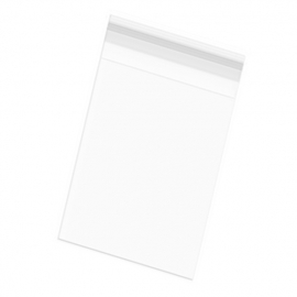 Bolsas Celofán con Solapa Adhesiva (12 x 23 cm) 100 uds