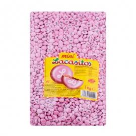 Bolsa de Mini Lacasitos Rosas 1Kg - Miles de Fiestas