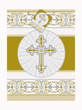 Bolsa de regalo para comunión en oro/plata de 23 cm