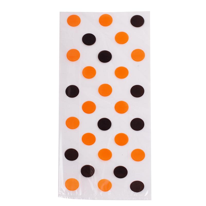Bolsas para dulces lunares naranjas y negros - Miles de Fiestas