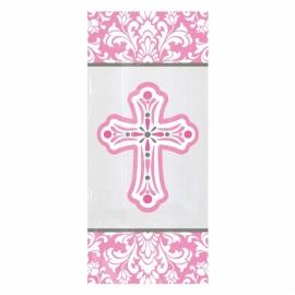Bolsas para galletas y dulces Comunión rosa