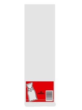Juego de 100 Bolsas Transparentes 10 cm x 25 cm