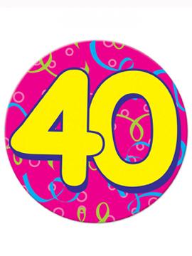 Chapa Gigante 40 Cumpleaños