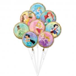Bouquet de Globos Princesas Disney 8 Ud
