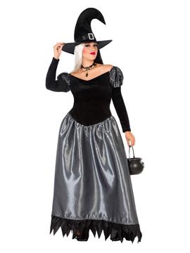 Disfraz Bruja Negro y Gris Adulto