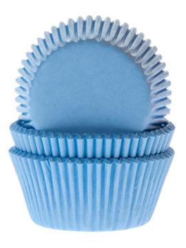 Cápsulas para Cupcakes Azul Claro 50 ud