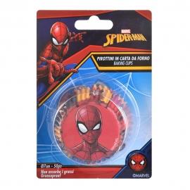 Cápsulas para cupcakes de Spiderman (50 uds)