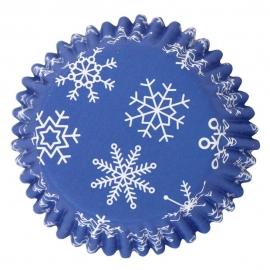 Cápsulas para Cupcakes Snowflakes 30 ud