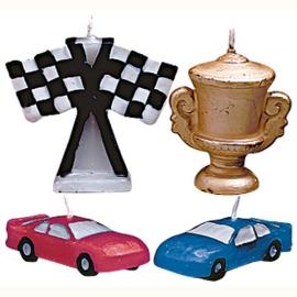 Set de 4 Velas Carrera de coches