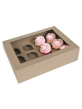 Caja para 12 Cupcakes Kraft 2 ud
