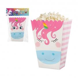 Caja para Palomitas Unicornio 4 ud