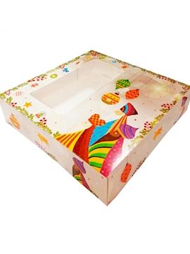 Caja para Roscón 31 x 31 cm - Miles de Fiestas