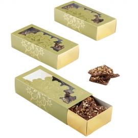 Set de 3 cajas para dulces doradas