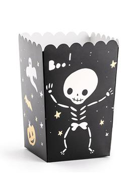 Cajas para Palomitas Esqueleto 6 ud