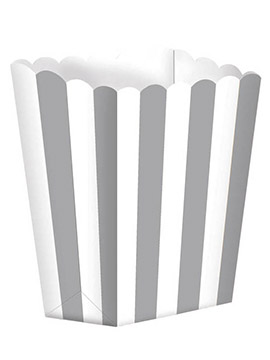 Pack de 5 Cajas para Palomitas Grises y Blancas
