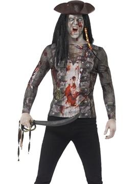 Camiseta Pirata Zombie Hombre