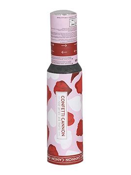 Cañón Pétalos de Rosas Rojas y Corazones 30 cm