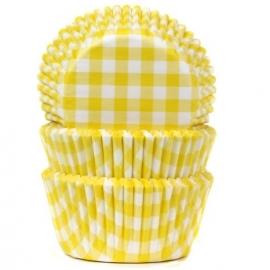 Cápsulas para  Cupcakes Gingham Yellow