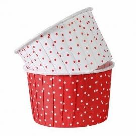 Cápsulas para cupcakes lunares rojos