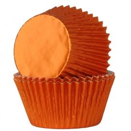 Cápsulas para cupcakes naraja metalizado House of Marie