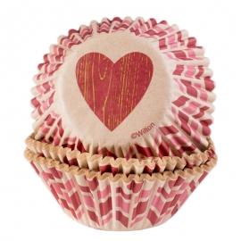 Cápsulas para cupcakes San Valentín