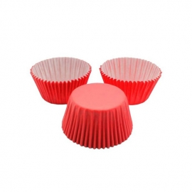 Cápsulas para Cupcakes Rojas 24 Unidades