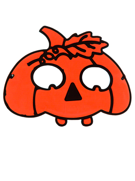 Máscara Calabaza Naranja - Miles de Fiestas