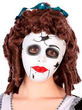 Careta de Muñeca Rota Halloween