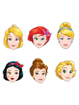 Set de 6 Caretas Princesas Disney