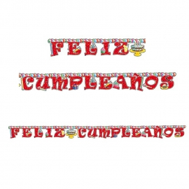 Cartel Feliz Cumpleaños 2,5 cm