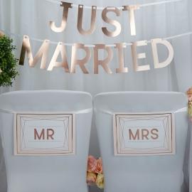Carteles para Silla Mr & Mrs