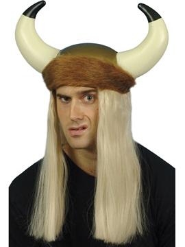Casco Vikingo con Peluca