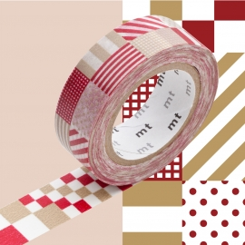Masking Tape 1P Deco Mix Red