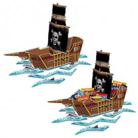 Centro de Mesa Barco Pirata