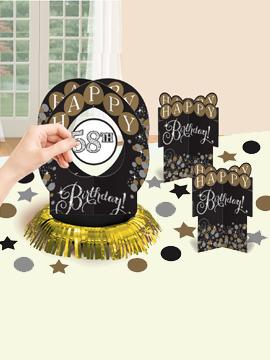 Kit de decoración de mesa de la colección Gold Sparkling