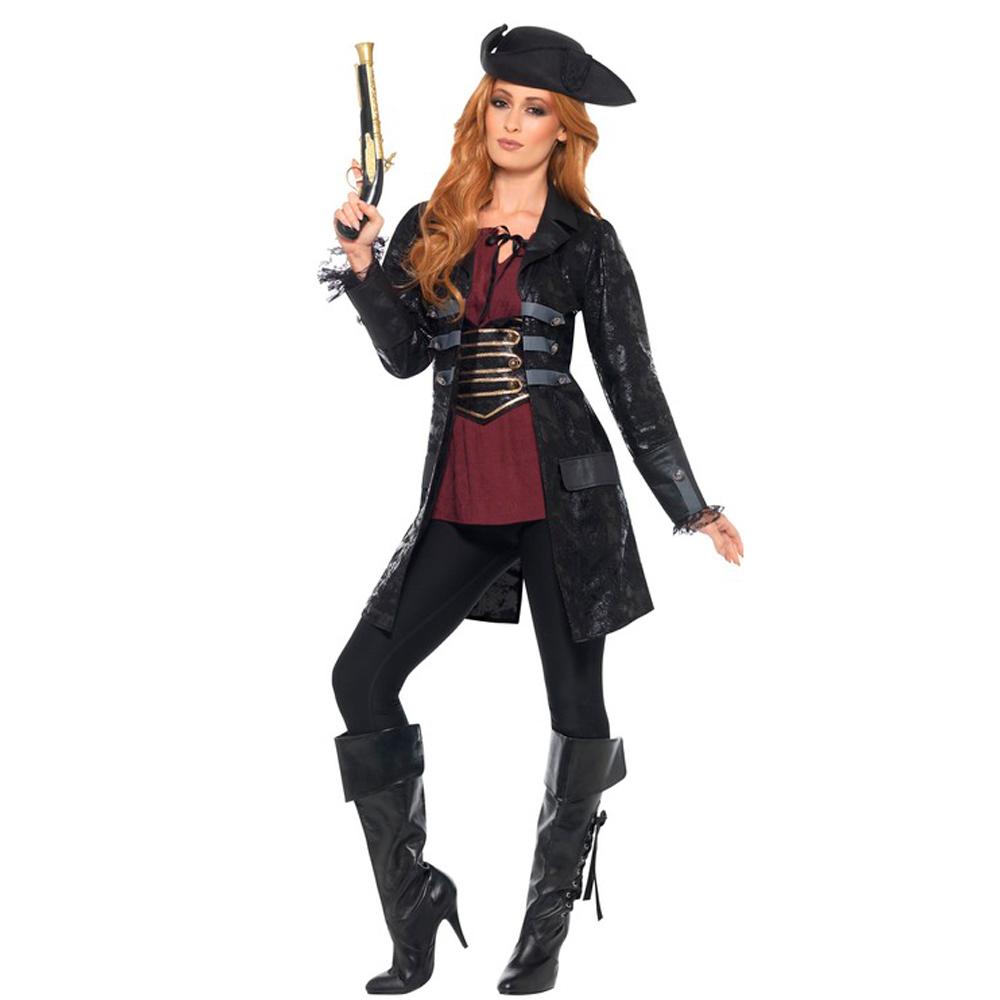 Chaqueta Pirata Negra Adulto
