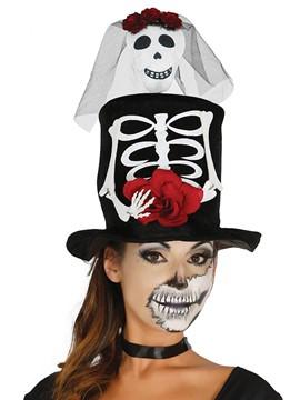 Chistera con Esqueleto Mujer
