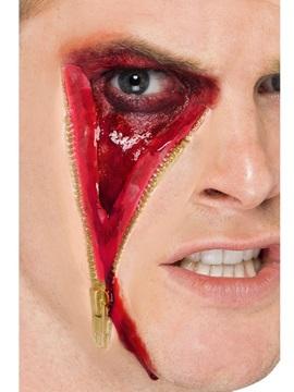 Cicatriz Facial Falsa con Cremallera