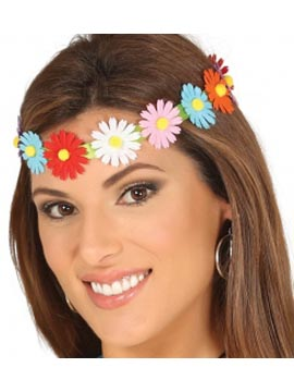 Diadema Cinta con Flores Multicolor
