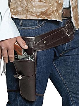 Cinturón y Funda Marrón Pistolero