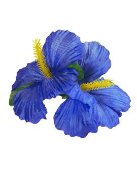 Clip para el Pelo Hawaiano Hibiscus Azul Intenso