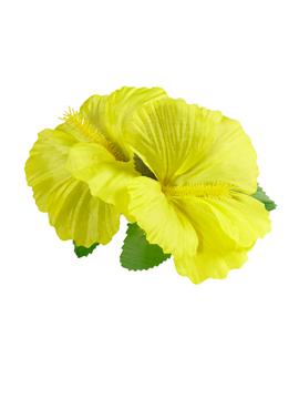Clip para el Pelo Hawaiano Hibiscus Amarillo