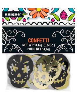 Confetti metalizado Día de los Muertos