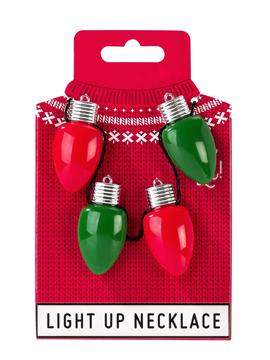 Collar Bombillas Luces de Navidad