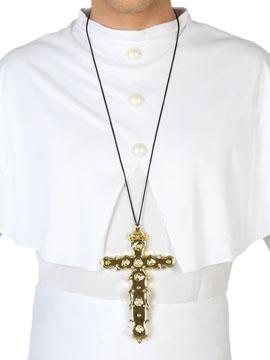 Collar Crucifijo Dorado 16 cm