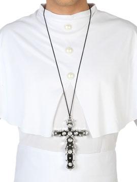 Collar Crucifijo Plateado 16 cm