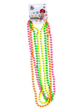 Set de 4 Collares de Perlas Neón