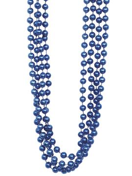 Set 4 Collares Perlas Azul Oscuro