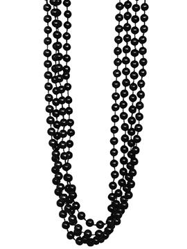 Set 4 Collares Perlas Negras