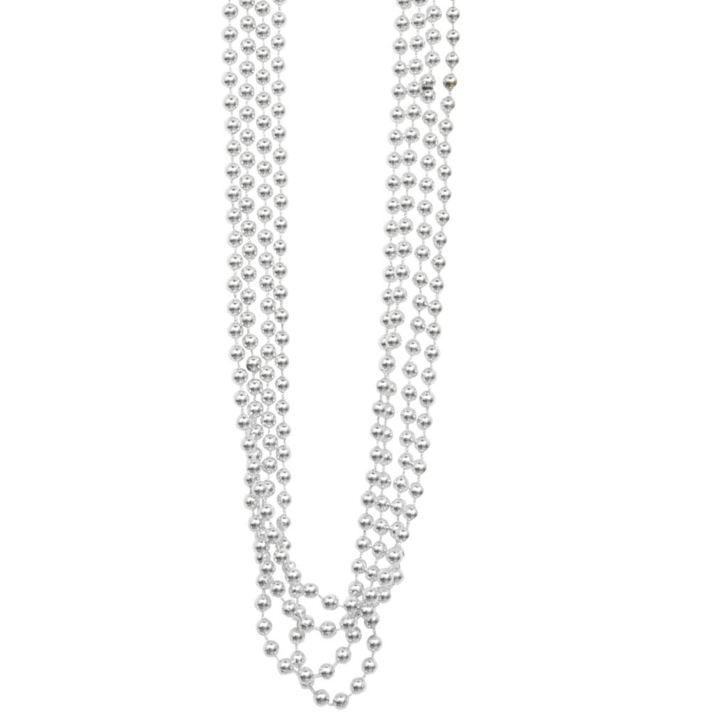Set 4 Collares Perlas Plateadas